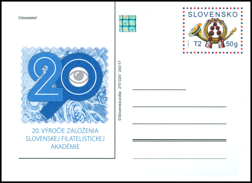 20th anniversary of the founding of the Slovak Philatelic Academy