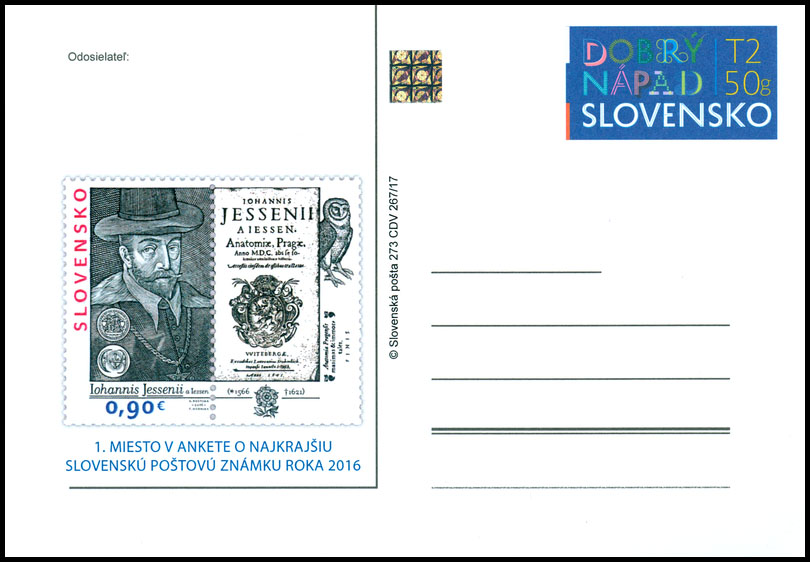 Public poll for the most Beautiful Slovak Stamp of 2016