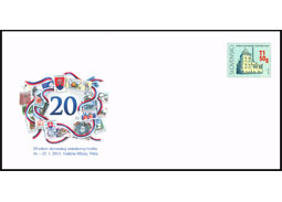 Postage stamps exhibition of 20 years of Slovak postage stamp