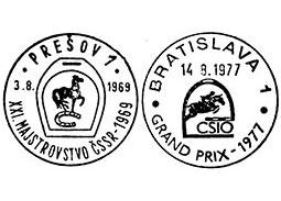 Príležitostné pečiatky na námet jazdecký šport z územia Československa 1945 - 1992 (5. časť)