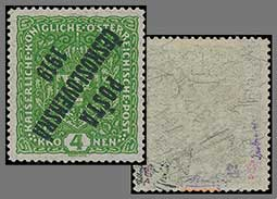 The rarest postage stamps - Czechoslovakia - 4K POŠTA ČESKOSLOVENSKÁ 1919 on veined paper