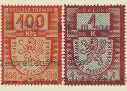 Czechoslovak revenue stamps Issue 1947 - 65 years since their issue