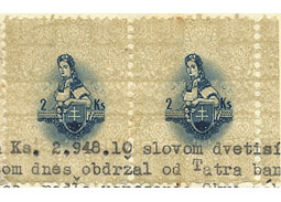 70 years since the release of Slovak revenue stamps - design 1942