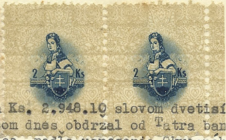 Divers 70 years since the release of Slovak revenue stamps - design 1942