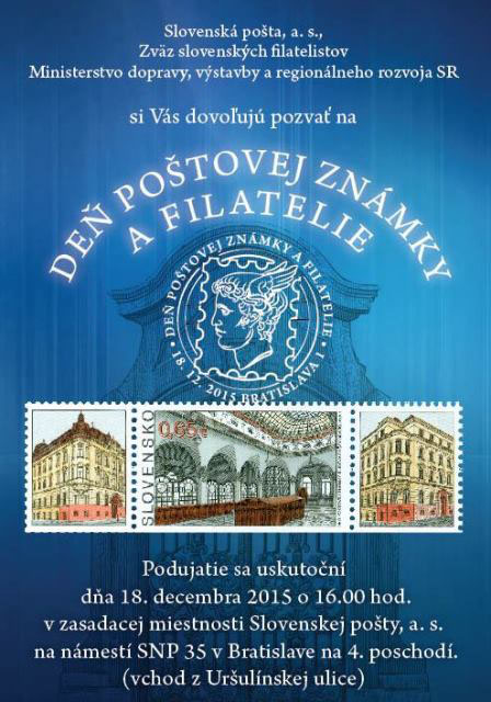 Events of Slovak Philat. Union (ZSF) Day of postage stamp and philatelie 2015 in Bratislava