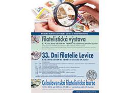 Mimoriadne vydaren� Dni filatelie Slovenska 2016 v Leviciach