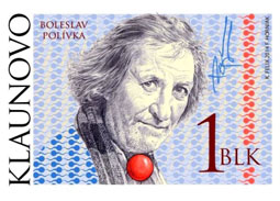 Slovakia has a postage stamp with Polivka. It was donated to him by wasters