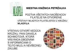 Opening of the promotional exhibition of young philatelists exhibits MLADFILA 2014