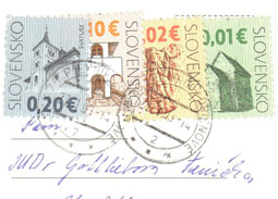 Franking of euro postage stamps - Cultural Heritage of Slovakia