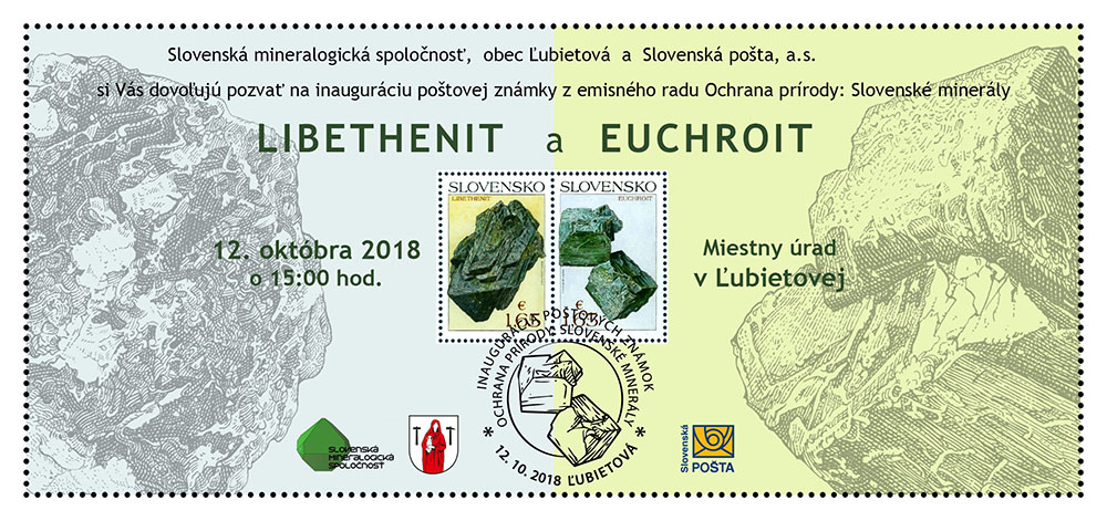 Stamp Inaugurations Ceremonial inauguration of the postage stamps Nature protection: Slovak minerals