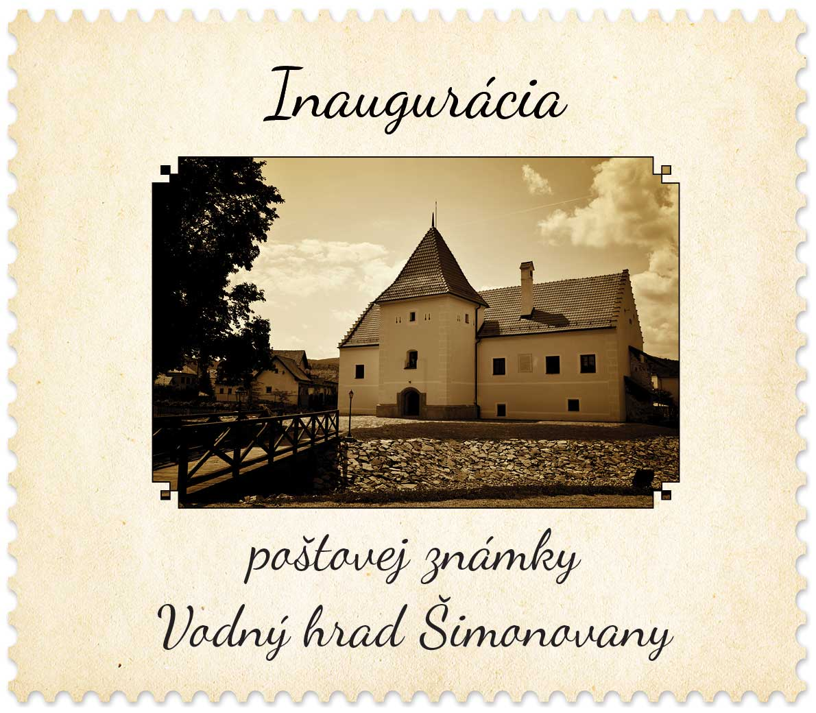 Stamp Inaugurations Ceremonial inauguration of the postage stamp Beauties of our Homeland: Manor-house Water Castle in Simonovany