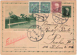 Postal valuables with the horse races and equestrian theme from the Czechoslovak territory (Part 1)