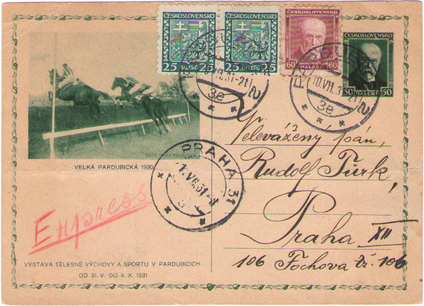 Thematic Philately Postal valuables with the horse races and equestrian theme from the Czechoslovak territory (Part 1)