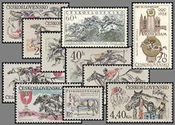 Postal valuables with the horse races and equestrian theme from the Czechoslovak territory (Part 2)