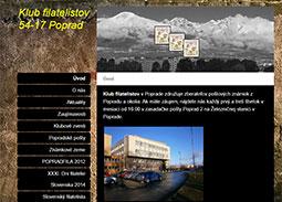 Filatelia na internete: Internetová stránka Klubu filatelistov 54-17 Poprad