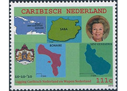 Postage stamp territories - Caribbean Netherlands