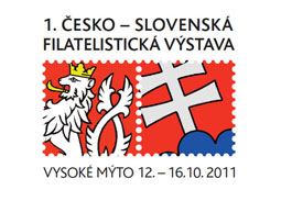 1st Czech-Slovak Philatelic Exhibition VYSOKÉ MYTO 2011 - award for philatelists from Vysoke Myto