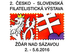 2. česko-slovenská filatelistická výstava ŽĎÁR NAD SÁZAVOU 2016 z pohľadu slovenskej účasti