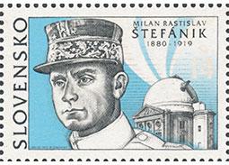 Tlačový list emisie Milan Rastislav Štefánik (1880 - 1919) s výrobnou chybou (česky)