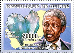 Minerals on stamps (IV.) - Nelson Mandela and minerals