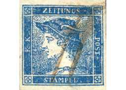 Territorial philately (Austria) - New information on the typology of blue Merkurs of 1851