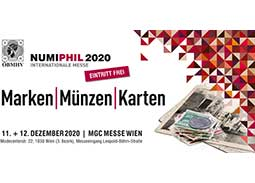International collectors Fair NUMIPHIL 2020 in Vienna (Austria)