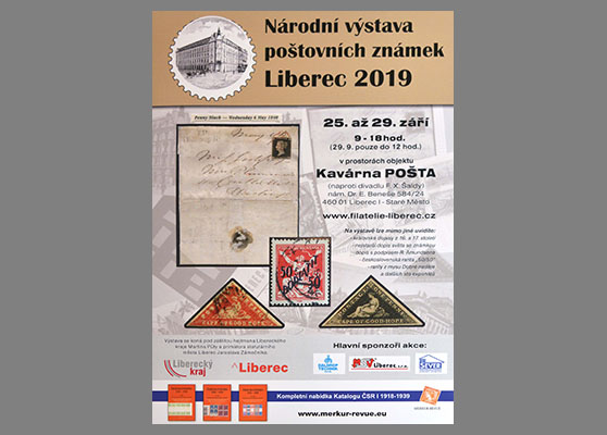 Exhibitions and exhibits National Stamp Exhibition LIBEREC 2019 and Slovak participation