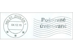 A new type of a stamping machine used in postal operations of the Slovak Post, Inc.