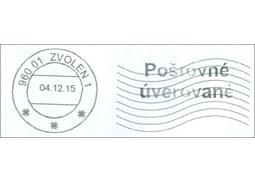 Nový typ pečiatkovacieho stroja používaného vpoštovej prevádzke Slovenskej pošty, a.s.