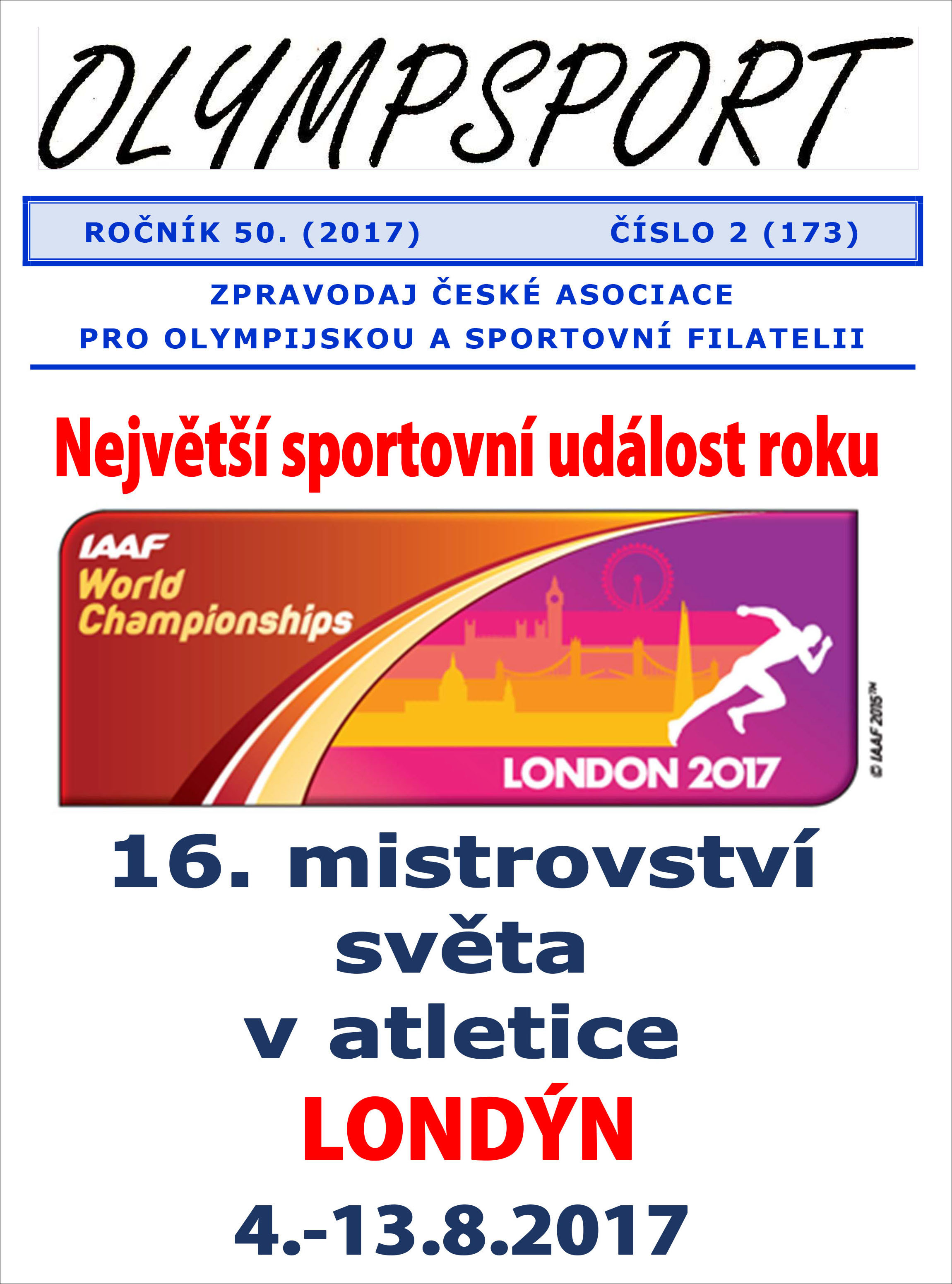 Philatelic magazines and periodicals New issue of the newsletter OLYMPSPORT 2017/2 (173)