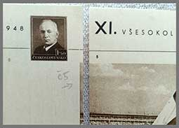 Postal cards with pictorial imprint XI. All-Sokol Gathering in Prague 1948 (CDV 90)