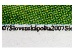 Protective elements of Slovak postage stamps and stationery