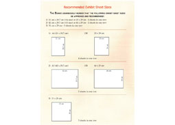 Recommended exhibit sheet size for competitive philatelic exhibits