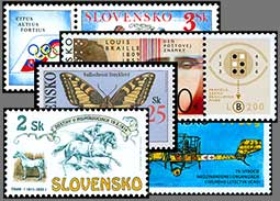Mistakes, errors and inaccuracies on the Slovak postage stamps and other postal materials