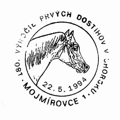Príležitostná poštová pečiatka 180. výročie prvých dostihov v Uhorsku