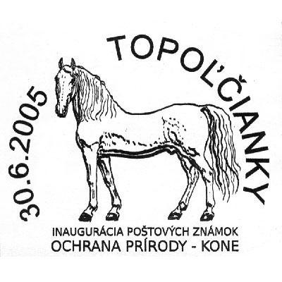 Príležitostná poštová pečiatka Inaugurácia poštových známok Ochrana prírody - Kone