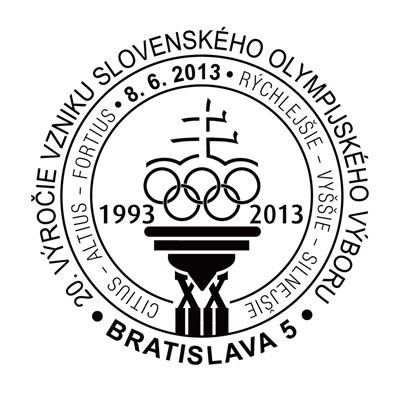 Commemorative Postmark 20th anniversary of the Slovak Olympic Committee