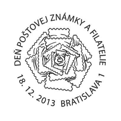 Commemorative Postmark Day of postage stamp and philatelie 2013