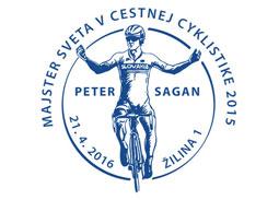 Inaugurácia poštovej známky Majstrovstvá sveta vcestnej cyklistike 2015 - Peter Sagan