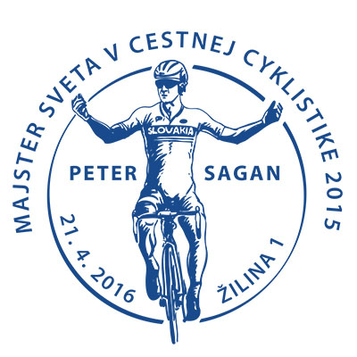 Commemorative Postmark Inauguration of the postage stamp 2015 UCI Road World Championships - Peter Sagan