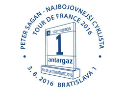 Commemorative Postmark Peter Sagan - the most combative cyclist of the Tour de France 2016