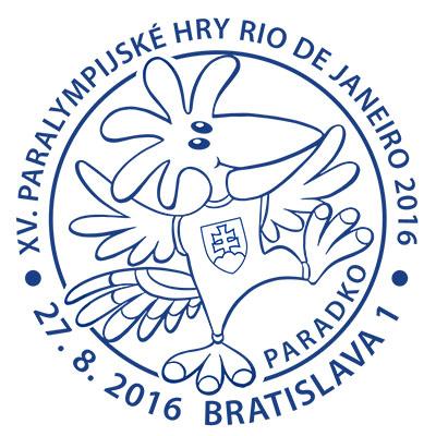 Príležitostná pečiatka XV. Letné paralympijské hry Rio de Janeiro 2016