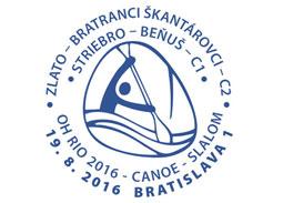 XXXI. Letné olympijské hry Rio de Janeiro 2016 - slovenské medaily vo vodnom slalome