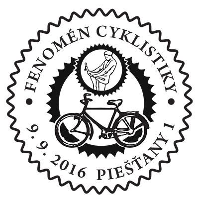 Commemorative postmark: Pie��any - Cycling Phenomenon