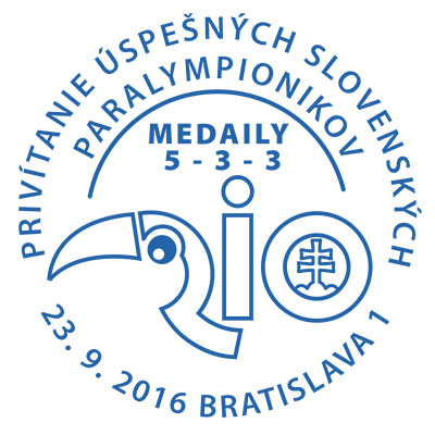 Commemorative postmark: Welcoming of the successful Slovak Paralympians - Rio 2016