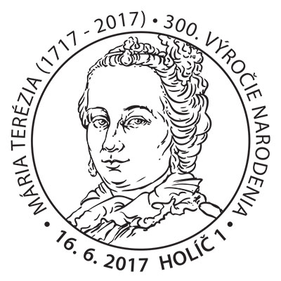 Commemorative Postmark Maria Theresa - 300th birth anniversary