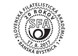 20 rokov Slovenskej filatelistickej akadémie (17. 8.)