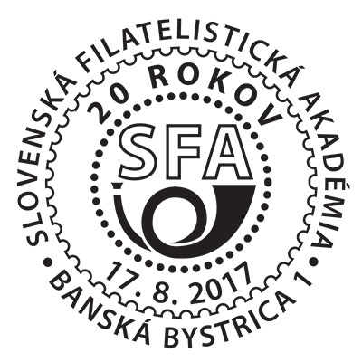 Commemorative Postmark 20th anniversary of the Slovak Philatelic Academy (17. 8.)
