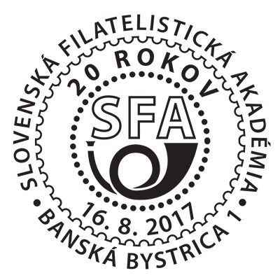 Commemorative Postmark 20th anniversary of the Slovak Philatelic Academy (16. 8.)