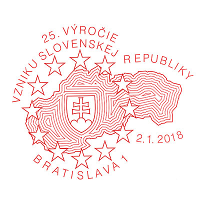 Commemorative Postmark 25th anniversary of the founding of the Slovak Republic